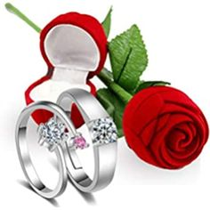 Buy Karatcart Valentine's Day Gift Hamper of Couple Ring with Red Rose Gift Box for Boyfriend/Girlfriend/Gift at Amazon.in Valentine Gifts For Girlfriend, Valentine Day Special, Valentine Day Gifts, Boyfriend Girlfriend, Boyfriend Gifts, Valentines Day Chocolates, Rose Gift, Saint Valentine, Gift Hampers
