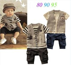 2014 free shipping retail baby boys romper/baby clothing striped baby sport jumpsuit kids clothes/children clothing US $6.99 - 9.85