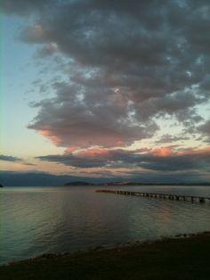 Sea & Pink Clouds