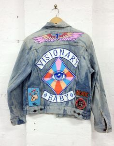 Large denim patches on the back for impact