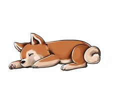 Sleepy Akita Inu by busik.deviantart.com on @deviantART