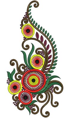 Kali Embroidery Design 12819 Kurti Embroidery Design, Embroidery Motifs, Hand Embroidery Designs, Machine Embroidery, Butterfly Template, Leaf Template, Hand Work Design, Uncommon Threads, Doodle Frames