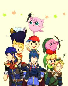 Super Smash Bros Brawl fan art  Aww Charlie look at toon link!