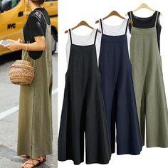 Overalls Plus Size, Plus Size Jumpsuit, Long Jumpsuits, Jumpsuits For Women, Fashion Jumpsuits, Rompers Women, Overalls Fashion, Fashion Clothes, Fashion Outfits