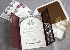 Oh So Beautiful Paper: Spanish Style Laser Cut Invitations