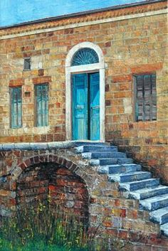 Old Lebanese House Painting by the artist Andre Kalfayan