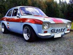Ford Gulf Escort Source by Escort Mk1, Ford Escort, Ford Rs, Car Ford, Ford Capri, Ford Classic Cars, Classic Sports Cars, Ford Motor Company, Maserati