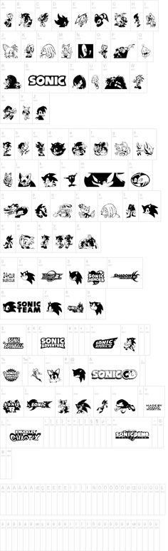 Sonic Mega Font- Great for Using on Your Sonic Gamer Birthday Party Decor or Invites.