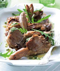 Nadívané jehněčí kotletky recept - ApetitOnline.cz Beef, Recipes, Food, Meat, Essen, Meals, Ripped Recipes, Yemek, Eten