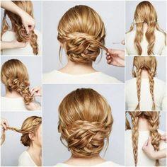 tutoriel coiffure moderne cheveux blonds femme