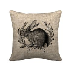 Rabbit with Wreath    Digital  Image No.109 Instant by DeNicheShop, $1.50