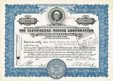 USA CLEMENCEAU MINING CORPORATION stock certificate ARIZONA