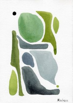 Details About Abstract Original Watercolor Painting Dark Blue Green Artwork Contemporary Art - Painting Watercolor Paintings Abstract, Watercolor Artists, Tattoo Watercolor, Watercolor Trees, Watercolor Animals, Watercolor Techniques, Watercolor Background, Watercolor Landscape, Watercolor Illustration