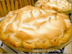 Lemon Meringue Pie--crust recipe from Ree Drummond, the Pioneer Woman.  Lemon filling from Alton Brown.