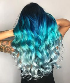 Are you looking for unique hair color ideas for winter and spring? See our collection full of unique hair color ideas for winter and spring and get inspired! hair, 82 Unique Hair Color Ideas For Winter and Spring Diy Ombre Hair, Blue Ombre Hair, Hair Dye Colors, Ombre Hair Color, Cute Hair Colors, Blonde Color, Blonde And Blue Hair, Winter Hair Colors, Hair Color Brown