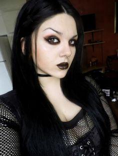 #Goth girl selfie