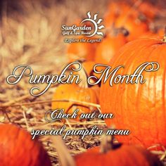 Coming soon, our Pumpkin Month - with special dishes!  www.sungardenresort.ro