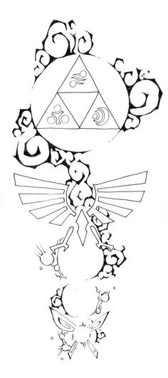 Zelda tattoo design #3 by blue-pepi on deviantART