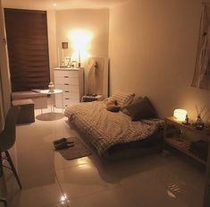 Super Home Cozy Decor Dorm Room Ideas Warm Home Decor, Bedroom Inspirations, Home Bedroom, Bedroom Design, Minimalist Room, Living Room Warm, Small Bedroom, House Interior, Apartment Decor