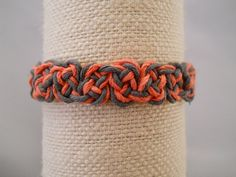 Coral and Gray Hemp Bracelet by PeaceLoveNKnottyHemp on Etsy, $9.00
