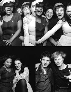 Merlin cast! Angel Coulby, Colin Morgan, Bradley James, Katie McGrath.