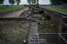 Ruins of gas chamber and crematorium III in Birkenau. Entrance to the changing room where victims had to undress before entering the gas chamber.