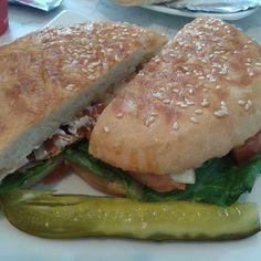 Jagodinka - Chicago, IL, United States. Salmon sandwich