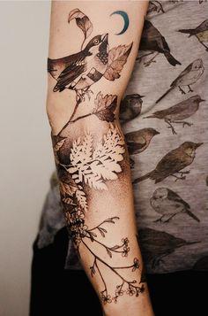 Arm Tattoo, Natur Tattoo Arm, Tatto Ink, Tatoo Henna, Sleeve Tattoos, Tattoo Bird, Time Tattoos, Body Art Tattoos, Tattoo Drawings