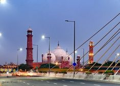 PAKISTAN, very nice captured the beauty of Badshahi mosque, Lahore, Punjab, Pakistan. courtesy by IStock Lahore Pakistan, Mosque, Landscape Art, Cn Tower, Taj Mahal, Nice, Awesome, Building, Travel