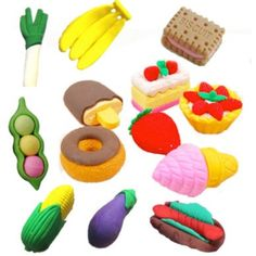 A super cute Japanese/ Korean inspired colourful faux food eraser, rubber set! You will receive a lucky dip of 4 randomly picked rubbers in a food style! Craft Supplies Uk, Scrapbook Supplies, Childrens Party Bags, Candy Crystals, Kawaii Crafts, Cute Stationary, Vegetable Drinks, Stationery, Deco
