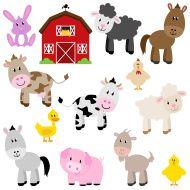 Farm Animals stock vector art 21555206 - iStock