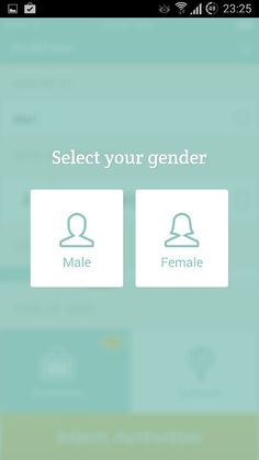 Why not start building two apps - one for men, other for women? :-)