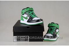 Now Buy Discount Nike Air Jordan 1 Kids White Black Green Shoes Save Up From Outlet Store at Footlocker. Nike Kids Shoes, Jordan Shoes For Kids, New Nike Shoes, New Jordans Shoes, Kids Jordans, Air Jordan Shoes, Kid Shoes, Shoes Uk, Discount Jordans