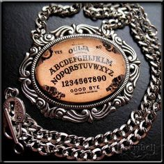 Ouija Board Necklace by Horribell--awesome!