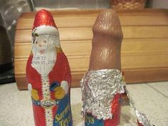 "Whaaaa?! You know the folks at the ""Santa"" chocolate making place are laughing their asses off at this lil' prank!"
