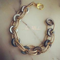 Modello Circles..anche con catena in silver e con pietre di un altro colore. ..