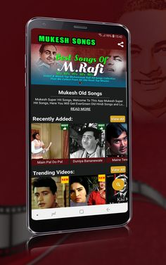 Mukesh Old Songs - Apps on Google Play Hindi Old Songs, All Songs, Best Songs, Love Songs, Lata Mangeshkar Songs, Old Bollywood Songs, Song Notes, Emotional Songs, Hindi Video