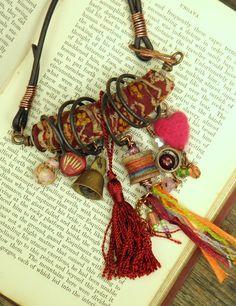 Caravan - bohemian gypsy vintage charm necklace