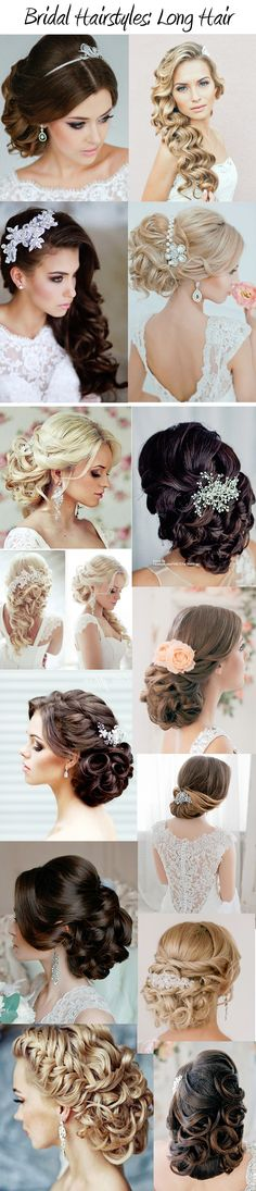 Gorgeous Bridal Hairstyles: Our Brides' Favorites www.customdreamgowns.com #weddinghair #bridalhair #longhair #hairstyles #wedding #bride #updo #waves #sidepart #headpiece #beautiful #pinned #curls #laceheadpiece #elegant #sophisticated #modern #chic #weddingstyle #weddinginspiration #weddingideas #bridal