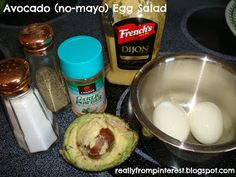 All My Great Ideas Are Really From Pinterest: No-Mayo Avacado Egg Salad
