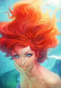 Ariel by Artgerm - I love The Little Mermaid! Great animation BEFORE computers took over. #NerdMentor