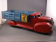 Vintage MARX Toys MOTOR MARKET DELIVERY STAKE BED Metal TRUCK