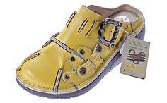 Damen Leder Clogs TMA Schuhe Gelb Used Look Slipper echt Leder Comfort Sandalen Gr. 37 - http://on-line-kaufen.de/tma/37-eu-damen-echt-leder-clogs-sabot-schuhe-slipper