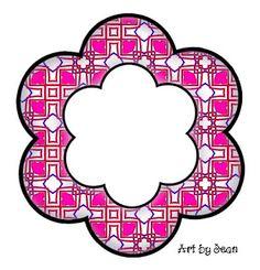ArtbyJean - Paper Crafts: ---FRAMES - Flower Shapes