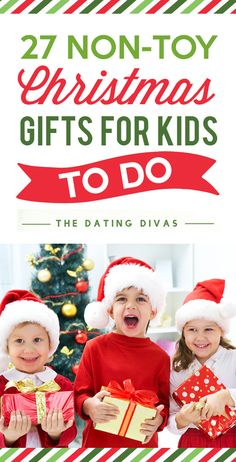 Non-Toy Christmas Gifts for Kids to Do - present ideas that will make you closer as a family and won't clutter your house! Fun activities for children throughout the year.