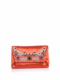 Embellished satin clutch | Lanvin | MATCHESFASHION.COM