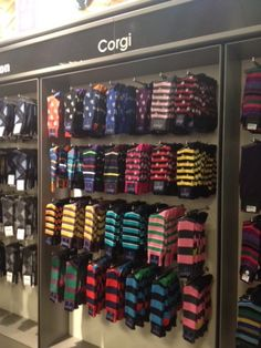 Corgi sock display @ Selfridges