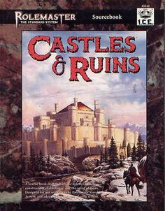 Product Line: Rolemaster  Product Edition: RMSS  Product Name: Castles & Ruins  Product Type: Sourcebook  Author: R. Kirkland  Stock #: 5542  ISBN: 1-55806-277-7  Publisher: ICE  Cover Price: $20.00  Page Count: 192  Format: Softcover  Release Date: 1996  Language: English