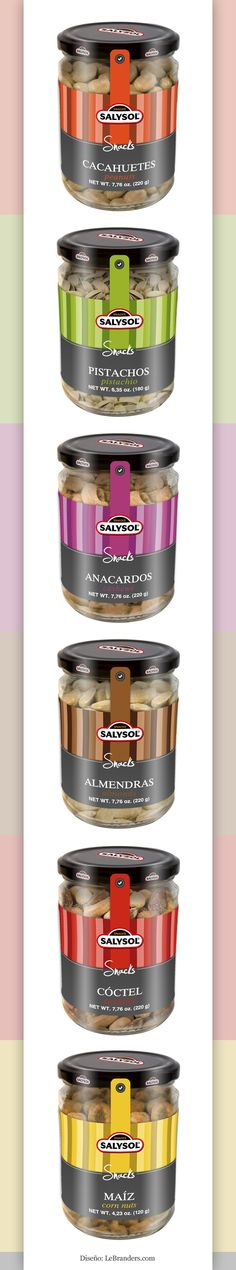 #Diseño de packaging para los productos de Salysol. - Designed by LeBranders. Let's eat some #nuts #packaging PD