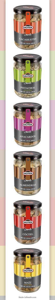#Diseño de packaging para los productos de Salysol. - Designed by LeBranders. Let's eat some #nuts #packaging PD